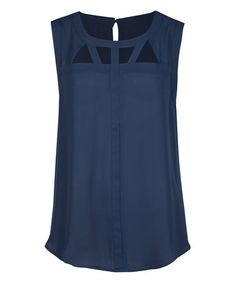 Love this Deep Navy Peekaboo Shell on #zulily! #zulilyfinds