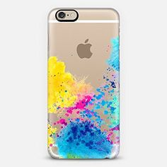Casetify Blue Yellow Abstract Watercolor Neon Pink Splatter - iPhone 6 Case (Frosty White), http://www.amazon.com/dp/B00TAKV6KO/ref=cm_sw_r_pi_awdm_0PXNvb0TZP7YS