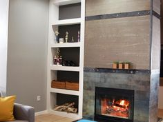 fireplace makeover before and after #fireplace