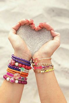 summer, beach, and bracelet image