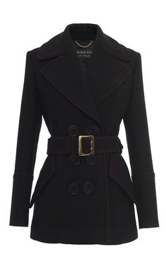 Belted Luggage Stitch Coat by BURBERRY for Preorder on Moda Operandi