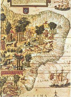 Um Clique na História: mapa do Brasil colonia, LUCIANO