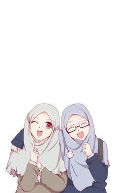 Beautiful,Pretty cute,friendship anime muslimah en 2019 anime muslim, hijab d Anime Girl Cute, Beautiful Anime Girl, Anime Art Girl, Girl Cartoon, Cartoon Art, Cover Wattpad, Anime Friendship, Friend Anime, Anime Best Friends