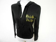 Bride Tribe Hoodies Bachelorette Party Hoodies Gold by BrideBikini