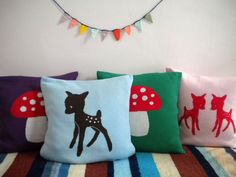 #pillows appliqués
