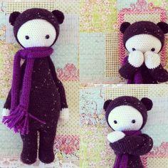 BINA the bear made by Gisele / crochet pattern by lalylala