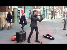 This is a fantastic clip of Anchorage-based violinist Bryson Andres playing his sampled and looped version of OneRepublic's Secrets on the streets of Spokane, Washington.