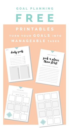 Goal Planning Free Printables   Fall For DIY Perfect for organizing your blog, business, wedding, Christmas, party planning and other activities!