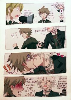 Togami / Nagito Komaeda / Naegi Makoto << don't ship, but it is cute. It kinda reminds me of Clear and Aoba from dmmd, though.