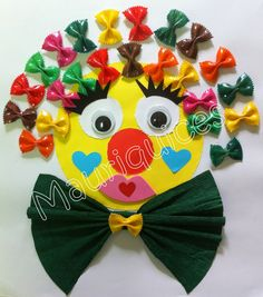 This page has a lot of free Clown craft idea for kids,parents and preschool teachers. Kids Crafts, Clown Crafts, Circus Crafts, Carnival Crafts, Summer Crafts, Halloween Crafts, Diy And Crafts, Arts And Crafts, Theme Carnaval