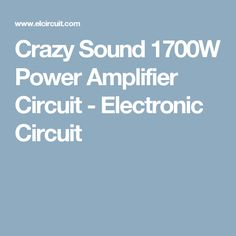 This audio amplifier designed uses two per channel, in parallel circuit, based on the parallel amplifier detailed in National Semiconductor's application note - Audio Amplifier, Electronic Circuit, Electronics, Tech, Technology, Consumer Electronics