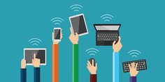 illustration of hands holding hi tech devices. vector set of flat hand icons holding various hi-tech computer and communication devices. Business Communication Skills, Mobile Device Management, Reading Website, Marketing Tactics, Marketing News, Internet, We Fall In Love, Student Engagement, New Teachers