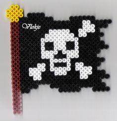 Pirate flag perler beads by vlokje