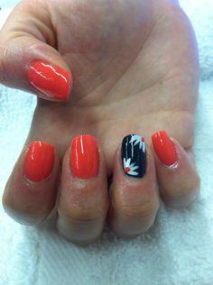 Shellac nails using Tropix and Indigo Frock