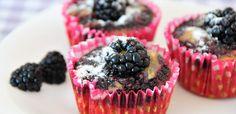 Brombeer-Muffins glutenfrei, vegan