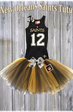 New Orleans Saints Tutu Set
