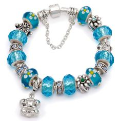 Bratara dama Blue Hot Murano Pandora Style Pandora, Bracelets, Silver, Blue, Beautiful, Jewelry, Hot, Google, Style