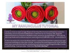 My Version of a Ranunculus Tutorial - CakesDecor