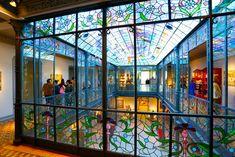 Museo Art Nouveau y Art Déco Casa Lis Art Nouveau, Art Deco, Casa Lis Salamanca, Tortoise, Stained Glass, Spain, Room Decor, Mansions, House Styles
