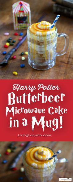 Harry Potter Butterbeer Mug Cake