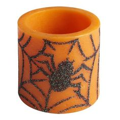Sparkle spider candle!