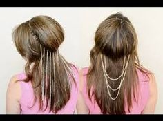 hair jewelry chain diy - Google Search