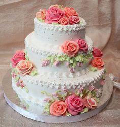 So Pretty !!! Amazing Wedding Cakes, Amazing Cakes, Pretty Cakes, Beautiful Cakes, Foto Pastel, Novelty Birthday Cakes, Cake Decorating Techniques, Decorating Ideas, Birthday Cake Decorating