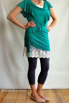 Ohh La La Lace OFFWHITE - Lace Skirt Extender - Long Lace Cami - Lace ...