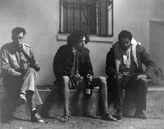 Behind the scenes of Fandango. Judd Nelson (Phil), Truman, Kevin Costner (Gardner).