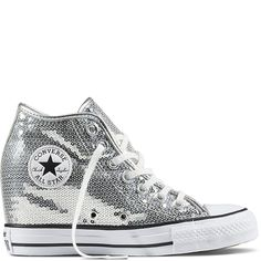 15c584bcf99 Chuck Taylor All Star Lux Sequin Pure Silver/White/Black pure silver/white