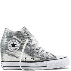 sale retailer 7a3e1 9efd4 Chuck Taylor All Star Lux Sequin Pure Silver White Black pure silver white