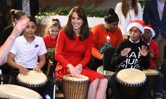 Kate Middleton plays drums at children's Christmas party at Anna Freud Centre - HELLO! US