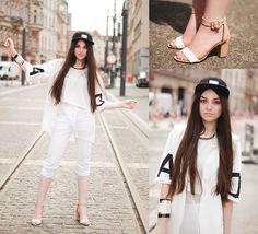 Choies Shoes, We Peace It Apparel Cap, Sheinside Vest, Choies Tee, Bershka Bracelet, H Necklace, H Pants