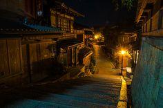 Sannei-zaka in summer night (Kyoto) / 夏の夜の産寧坂(京都)