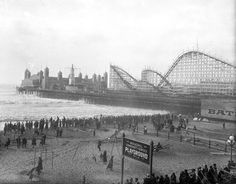 "1929 Santa Monica Pier.""Municipal Community Playground"""