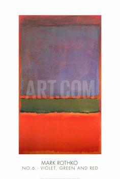 No. 6 (Violet, Green and Red), 1951 Art Print by Mark Rothko at Art.com