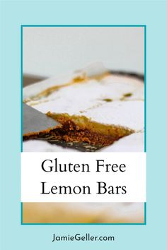 Gluten free, dairy free and K for P these Kosher for Passover Lemon Bars perfectly satisfy your holiday and/or year round gluten free baking needs. #dairyfree #passover #lemonbars Gluten Free Baking, Gluten Free Recipes, Passover Desserts, Lemon Bars, Free Food, Dairy Free, Dessert Recipes, Meals, Holiday