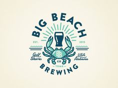 Big beach blue crab