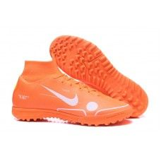 Botas de futbol Nike SuperflyX 6 Elite TF MD Naranja Blanco e644781f4bb62