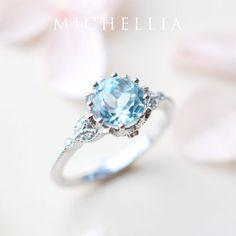 Floral Engagement Ring, Morganite Engagement, Diamond Engagement Rings, Matching Wedding Bands, Diamond Wedding Bands, Blue Wedding Rings, Blue Rings, Platinum Jewelry, Gold Platinum