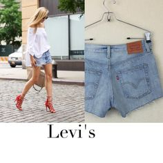 Levi's distressed cut off shorts Levi's distressed style cut off shorts button up size 26 worn 2 times. $58 Levi's Shorts Jean Shorts