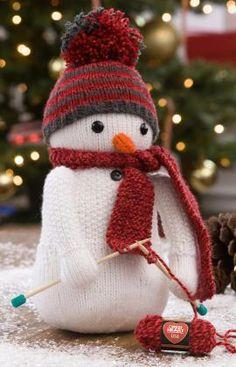 Strickmuster für Strickender Schneemann