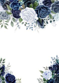 Wedding Invitation Background, Wedding Invitation Card Template, Wedding Card Templates, Wedding Cards, Wedding Invitations, Flowery Wallpaper, Flower Background Wallpaper, Flower Backgrounds, Baby Birthday Card