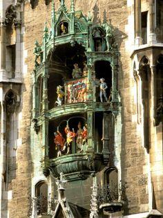 Munich Germany, I loved watching the Glockenspiel