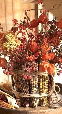 Fall Home Decor, Autumn Home, Autumn Fall, Autumn Leaves, Winter, Ikebana, Deco Nature, Thanksgiving Centerpieces, Thanksgiving Table