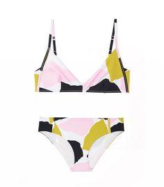 COS Printed Bikini Top + Bottoms