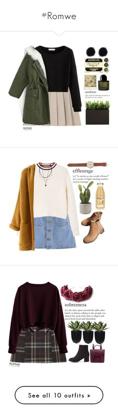 """""""#Romwe"""" by credentovideos ❤ liked on Polyvore featuring éS, Byredo, Tea Collection, MANGO, J.Crew, LOTTA, Grown Alchemist, abcDNA, Prada and WithChic"""