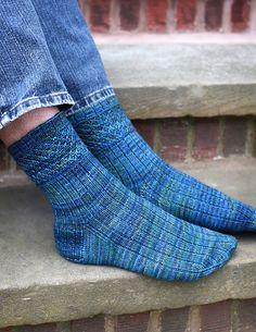 Ravelry: Ensnared pattern by Hunter Hammersen Crochet Socks, Knitting Socks, Hand Knitting, Knit Crochet, Knit Socks, Knitting Designs, Knitting Projects, Big Knit Blanket, Big Knits