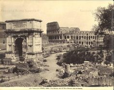 Arch of Titus and Colosseum, c. 1900 Photo by: Alinari Brother, Florence Taken from: 19thcentury-photography.com