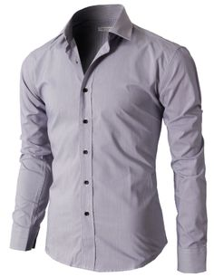 Doublju Mens Casual Slim Fit Button Down Shirts With Plaid Patterned (KMTSTL097) #doublju